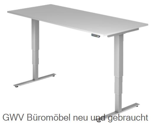 Steh- Sitz- Schreibtisch 200 x 100 cm (memory)