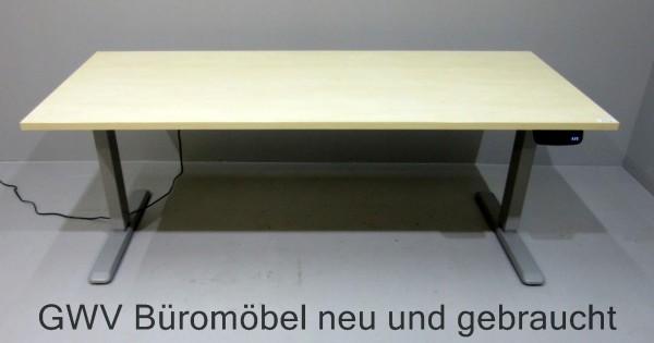 Steh- Sitz-Tisch B 160 cm, Gestell silber