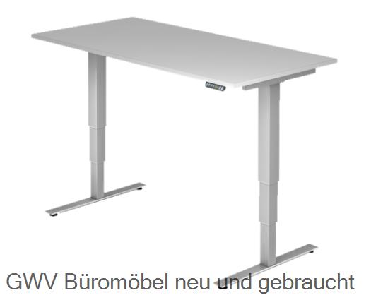 Steh- Sitz- Schreibtisch 160 x 80 cm (memory)