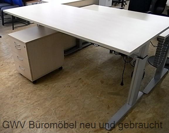 CEKA - Steh- Sitz- Schreibtisch 200 cm, buche MEMO