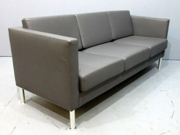 Loungemöbel - SMV - 3sitzer- Sofa - Leder grau