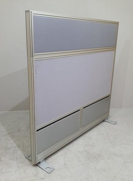 Trenn-Schall-Sichtschutzwand B 160 cm, grau