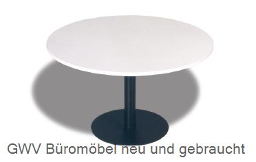 runder besprechungstisch lichtgrau durchmesser 120 cm rund gwv b rom bel gebraucht sofort. Black Bedroom Furniture Sets. Home Design Ideas