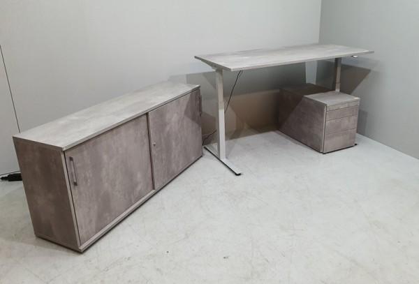 fm - Steh-Sitz-Set 3-teilig, Dekor Beton
