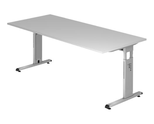 Schreibtisch 200 x 100 cm HV, 36 mm weiß
