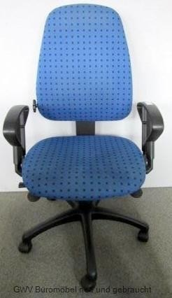 Zeitler - Bürodrehstuhl blau schwarz gemustert