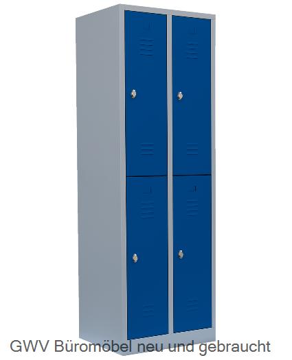 stahl f cher schrank blau enzianblau lichtgrau gwv gwv b rom bel gebraucht sofort lieferbar. Black Bedroom Furniture Sets. Home Design Ideas