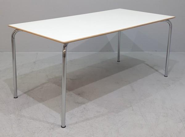 Besprechungstisch 160 x 80 cm, weiß/ holz