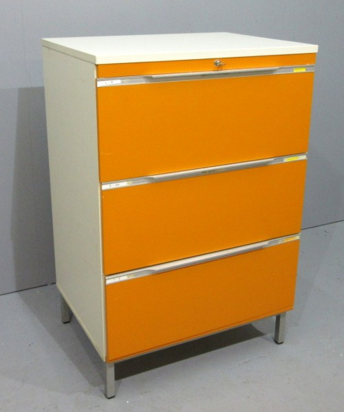 Hängeregisterschrank 3- Schub, Orange