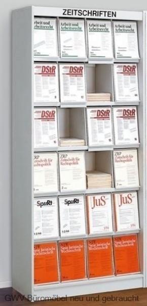 Media - Zeitschriftenschrank, 24 Fächer