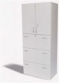 Türen- Hängeregisterschrank B 80 cm, grau