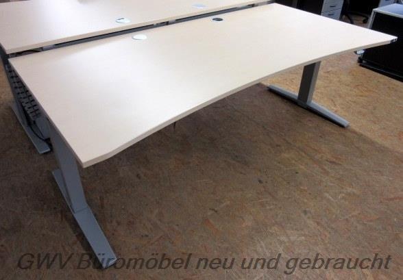 K & N - Steh- Sitz- Schreibtisch 200 cm, PC Halt.