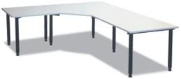Winkel- Schreibtisch 240 x 240 cm grau, HV
