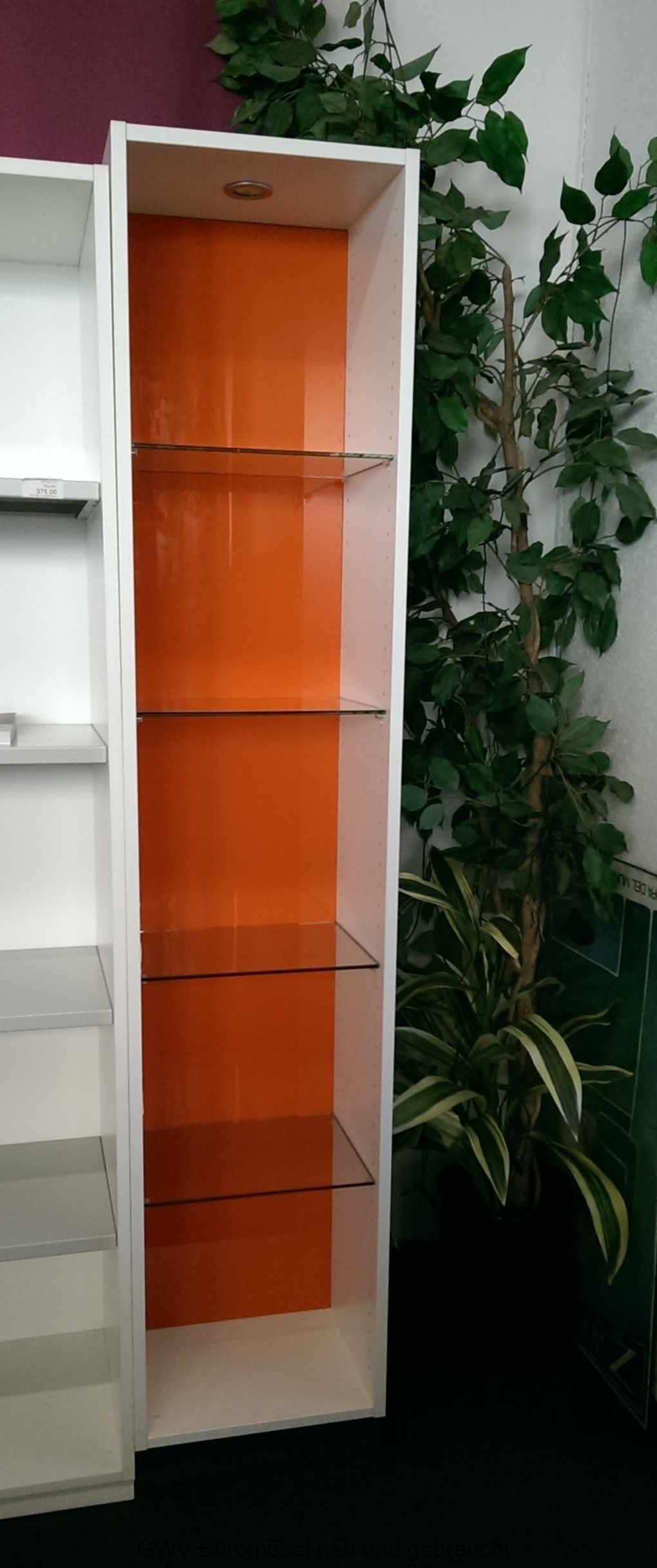 Febrü - Regal m. Glasböden und LED 5 OH, B 40 cm   Büromöbel - 2 ...