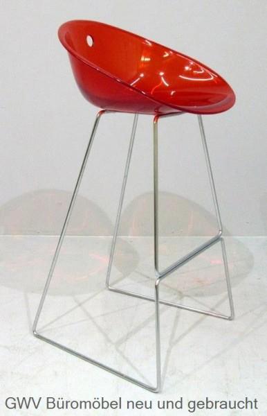 Design - Barhocker -Kunststoffschale transparent