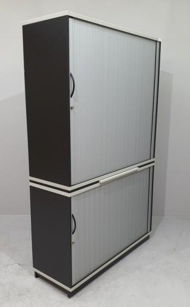 CEKA - Querrolloschrank 5 OH, B 120 cm schwarz