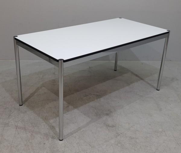 USM Haller - Schreibtisch 150 x 75 cm, weiß/chrom