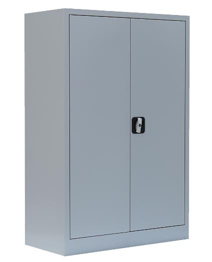Stahl- Akten- Sideboard 3 OH, B 92 cm lichtgrau