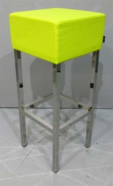 SMV - Barhocker - Bezug Lederoptik limonengrün