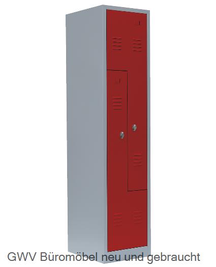 Stahl- Fächer- Schrank 2- Fächer, feurrot