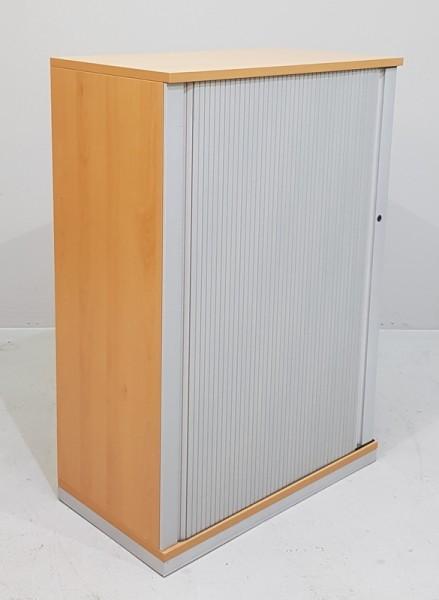 Steelcase - Querrolloschrank 3 OH, B 80 cm buche