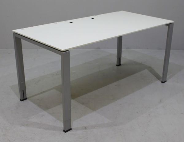 Vario - Schreibtisch 160 cm weiß
