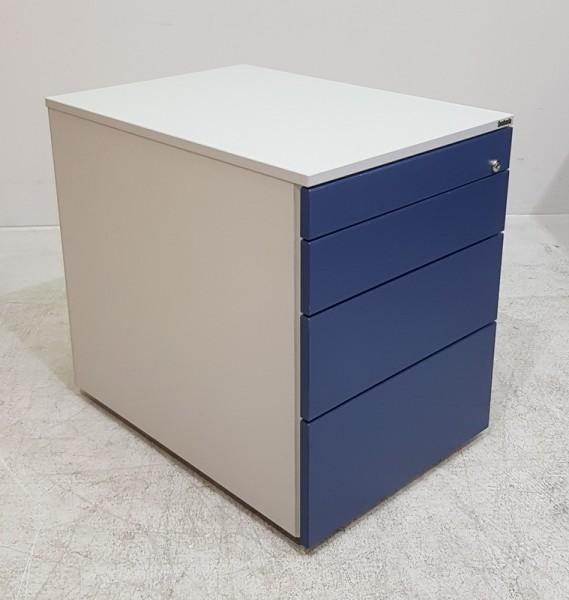Svoboda - Rollcontainer T 60 cm, blau / silber