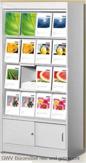 Print - Prospektschrank, 16 x A4