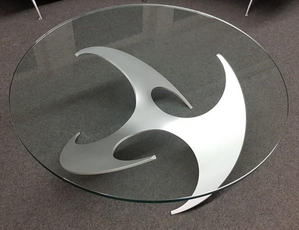Hesterberg Glastisch rund, D 110 cm