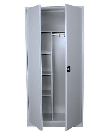 Stahl- Mehrzweck-Kleider-Schrank, B 92 cm grau