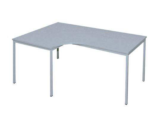 Freiform- Schreibtisch 200 x 120 cm (L), lichtgrau