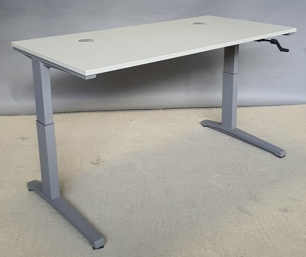 Steelcase - Schreibtisch 160 cm HV, lichtgrau