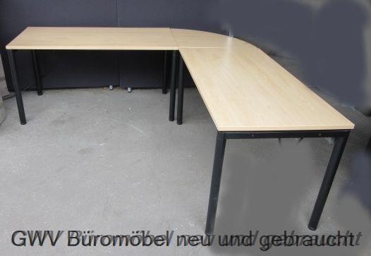 CEKA - Winkel- Schreibtisch 210 x 210 cm, buche