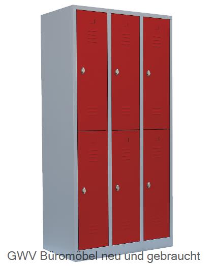 spint stahlschrank 6 faecher feuerrot rot gwv gwv b rom bel gebraucht sofort lieferbar. Black Bedroom Furniture Sets. Home Design Ideas