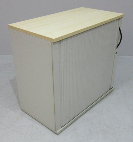 Werndl - Sideboard 2 OH, B 100 cm, grau/ahorn