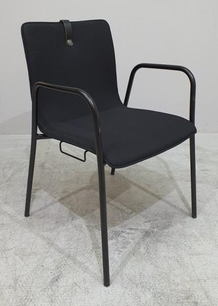 Löffler Besucherstuhl, schwarz
