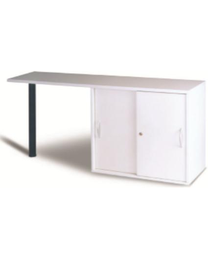 Anstell- Sideboard B 160 / 80 cm, grau