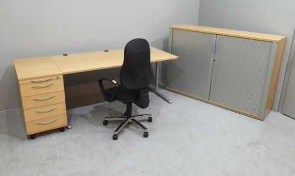 K & N - Schreibtisch + Cont. + Sideboard + Stuhl
