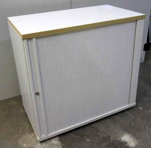Haworth - Querrolloschrank 2 OH, B 80 cm weiß