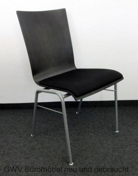 Hiller - Besucherstuhl - Holzstuhl wenge / schwarz