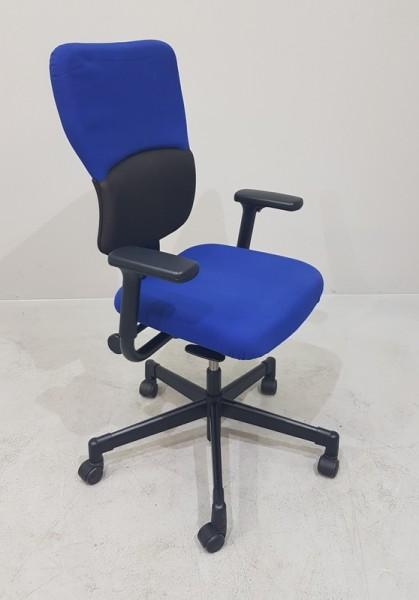 Steelcase - Bürodrehstuhl blau/ schwarz