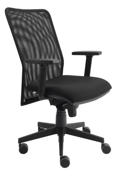 """Bürodrehstuhl """"Vils"""" schwarz mit Netzrücken"""
