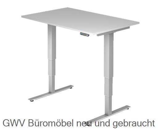 Steh- Sitz- Schreibtisch 120 x 80 cm (memory)