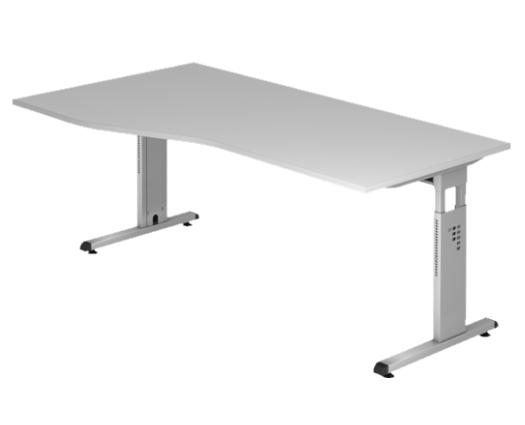 Freiform- Schreibtisch 180 x 80/100 cm, HV - R/L
