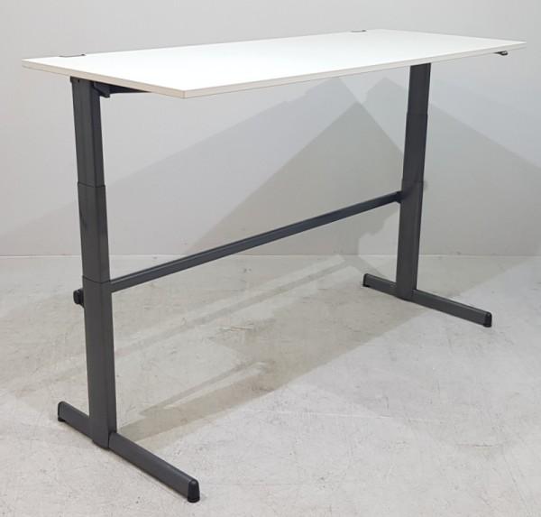 Steelcase - Steh- Sitz-Schreibtisch 200 cm, grau