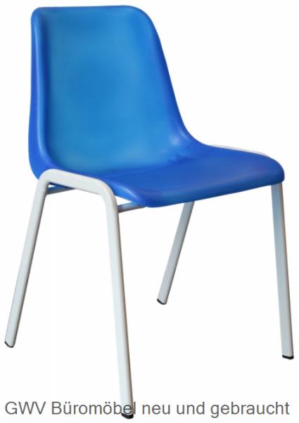 Kunststoff- Formschalen- Stapelstuhl, blau