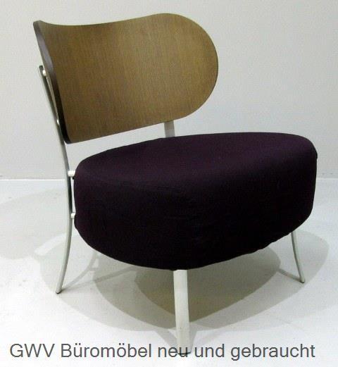 Stuhl - Loungesessel -Design Holz + Stoff