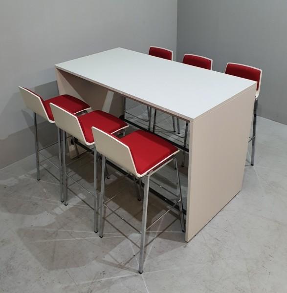 Meeting-Stehtisch 160 x 80 cm, weiß
