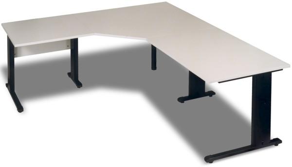 Winkel- Schreibtisch 200 x 200 cm, grau