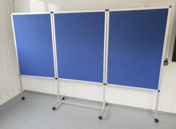 Pinnwand klappbar auf Rollen B 265 cm, blau